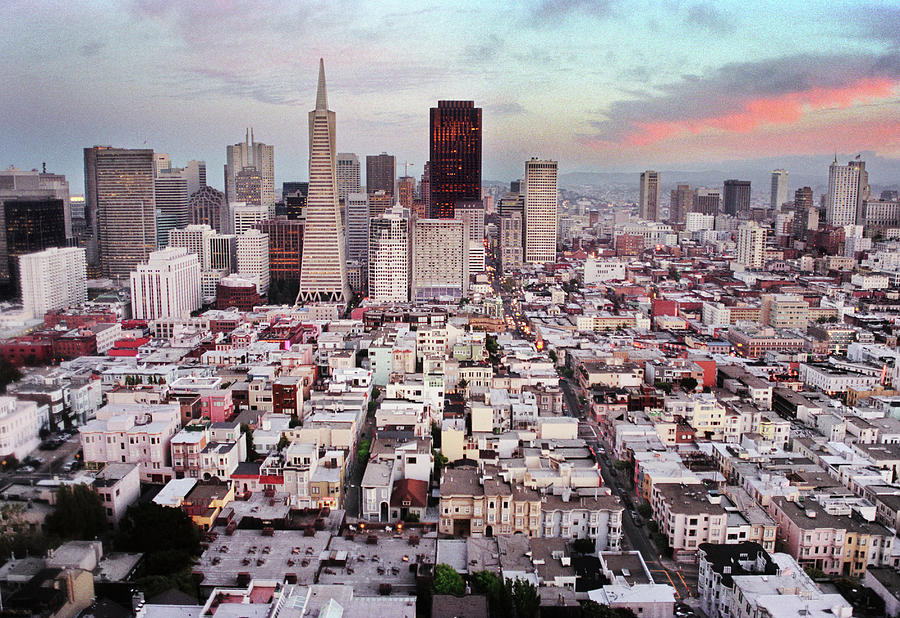 San Francisco Aerial Skyline Photograph by Ryan Mcginnis