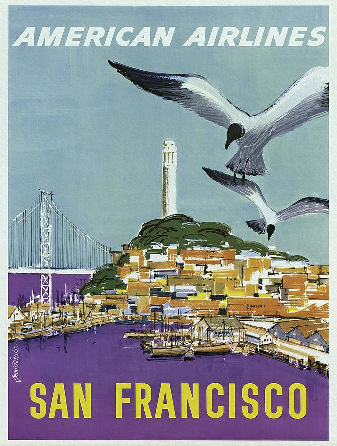 San Francisco Painting - San Francisco American Airlines by Unknown