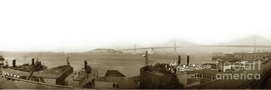 San Francisco and Oakland Bay Bridge by California Views Archives Mr Pat Hathaway Archives