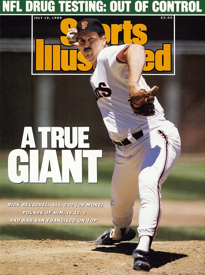 San Francisco Giants Rick Reuschel... Sports Illustrated Cover Photograph by Sports Illustrated