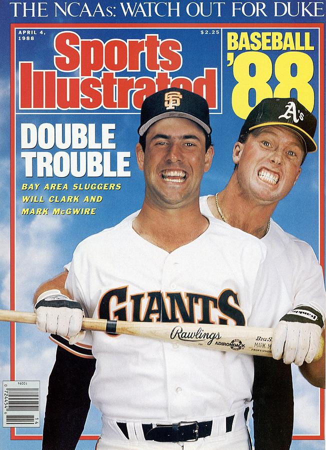 San Francisco Giants Will Clark And Oakland Athletics Mark Sports Illustrated Cover Photograph by Sports Illustrated