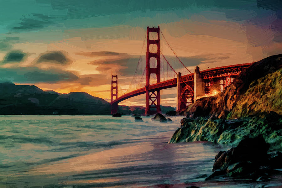San Francisco Golden Gate Bridge - DWP1096506 by Dean Wittle