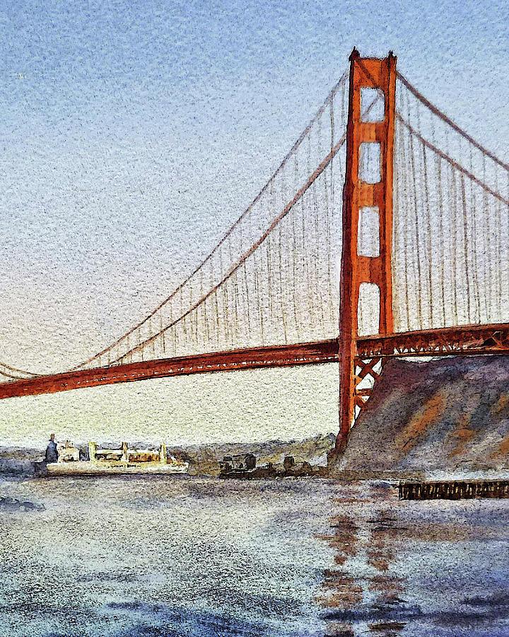 San Francisco Golden Gate Bridge  by Irina Sztukowski