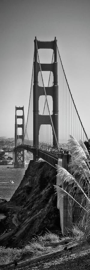 America Photograph - San Francisco Golden Gate Bridge - Panorama by Melanie Viola