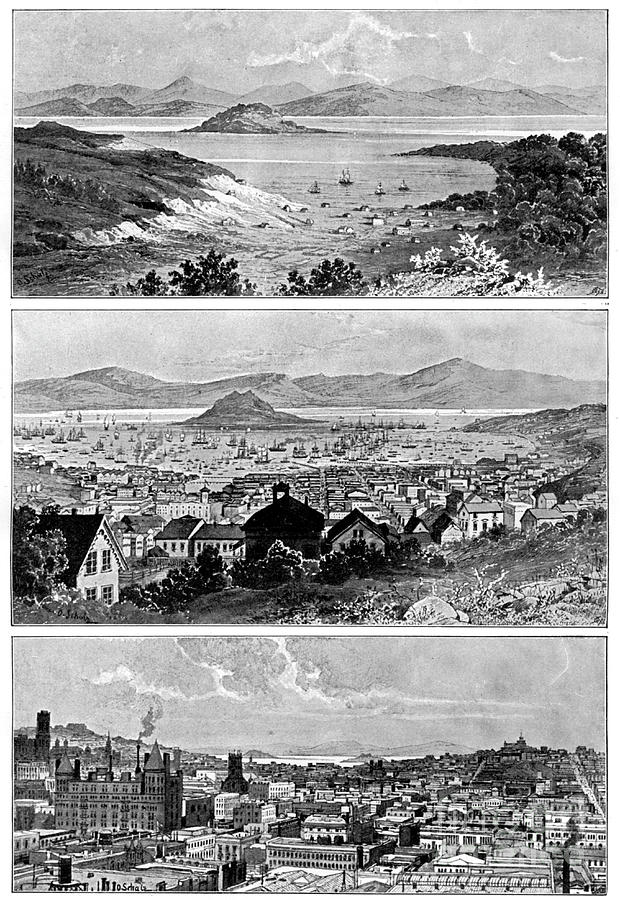 San Francisco In November, 1848, 1858 Drawing by Print Collector