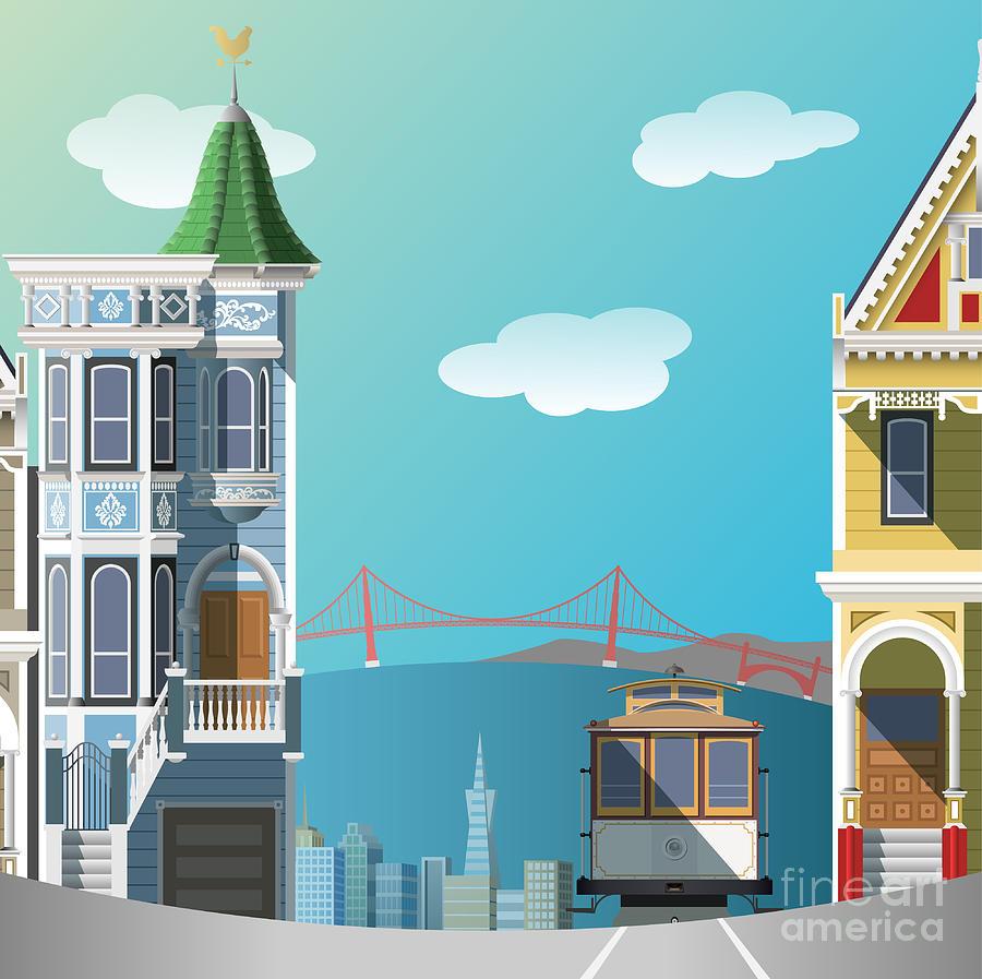 Francisco Digital Art - San Francisco Landscape by Nikola Knezevic