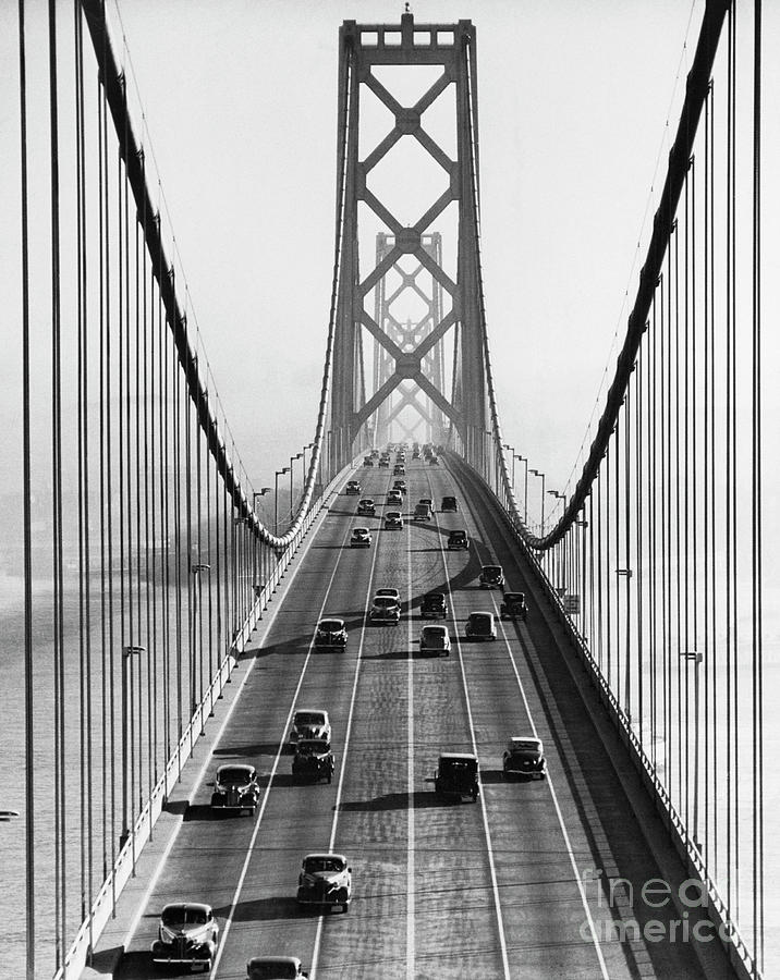 San Francisco-oakland Bay Bridge Photograph by Bettmann