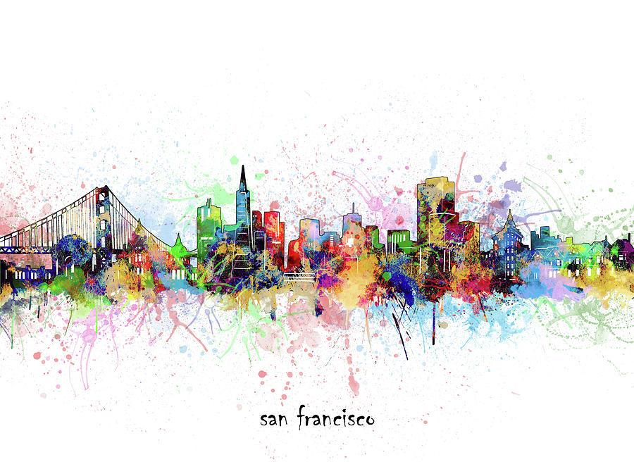 San Francisco Digital Art - San Francisco Skyline Artistic by Bekim M