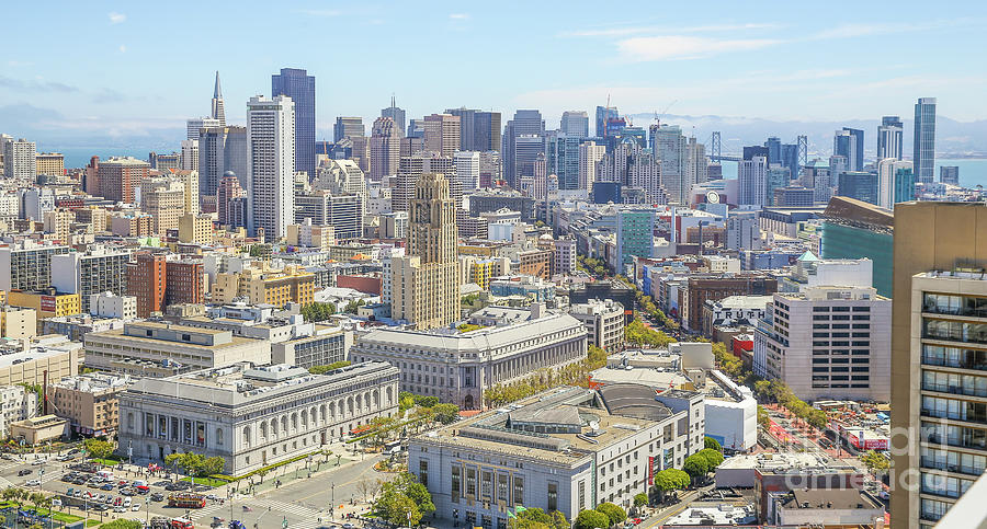San Francisco Photograph - San Francisco Skyline by Eddie Hernandez