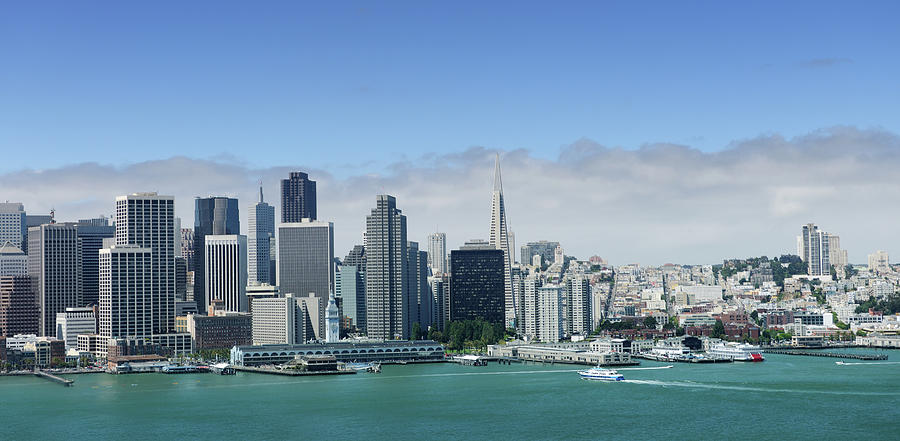 San Francisco Skyline Panoramic View Photograph by 4fr