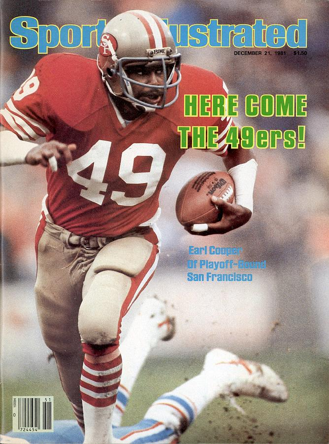San Fransisco 49ers Earl Cooper Sports Illustrated Cover Photograph by Sports Illustrated