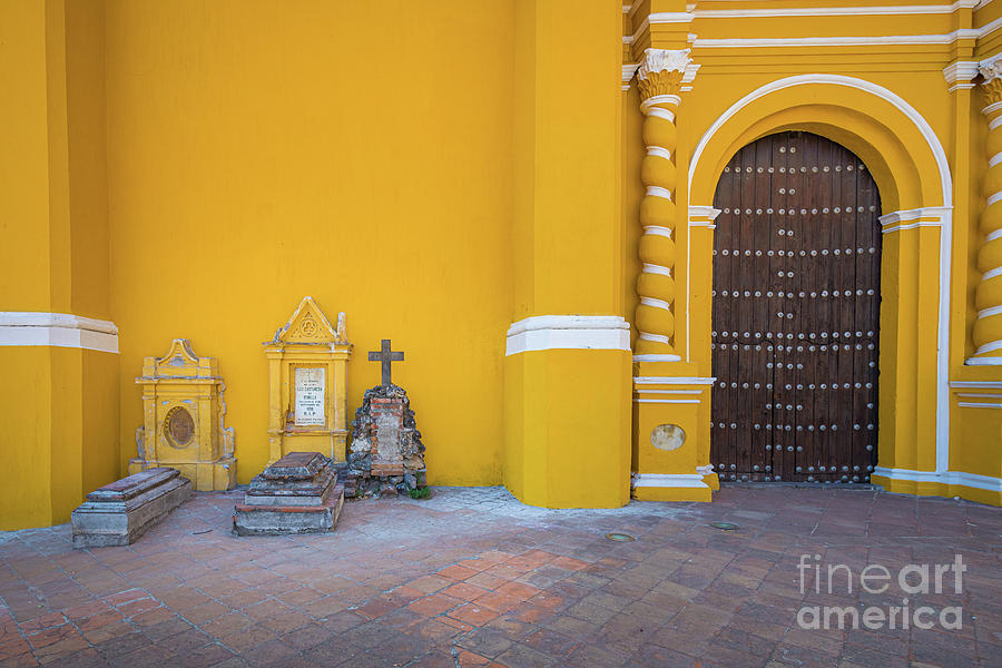 Catholic Photograph - San Gabriel Tombs by Inge Johnsson