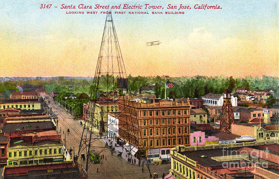 San Jose Electric Light Tower, California 1881-1915 by California Views Archives Mr Pat Hathaway Archives