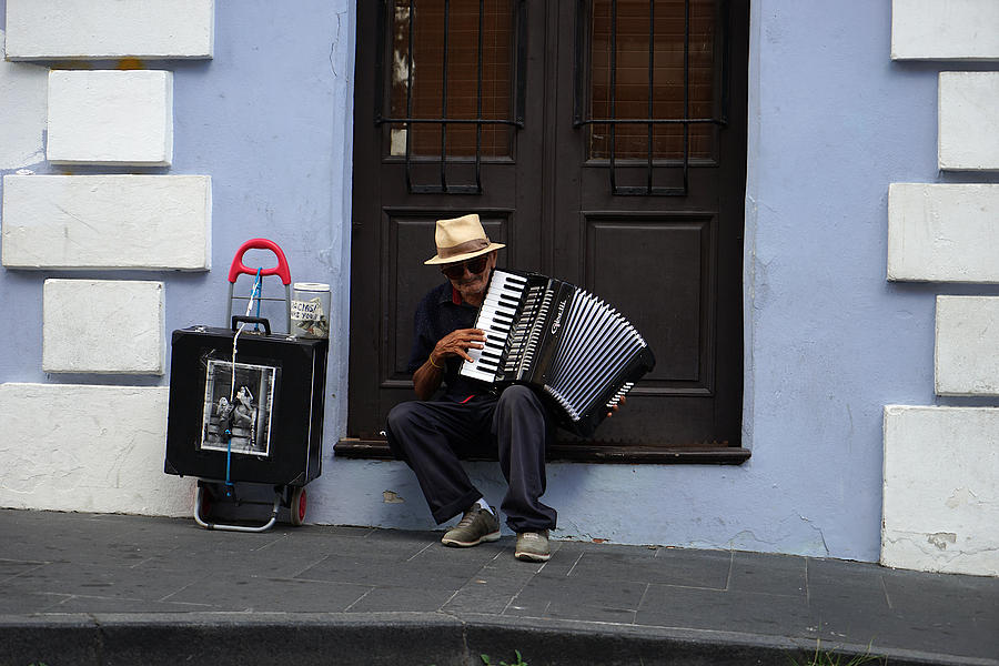 San Juan Accordion Player - 5 years on by Richard Reeve