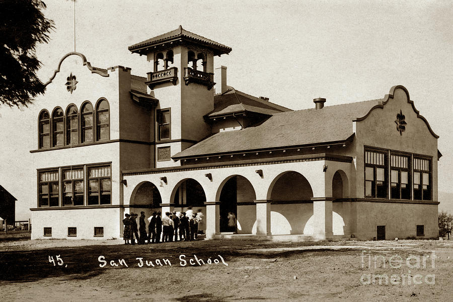 San Juan Bautista School  San Benito County, 1907 by California Views Archives Mr Pat Hathaway Archives
