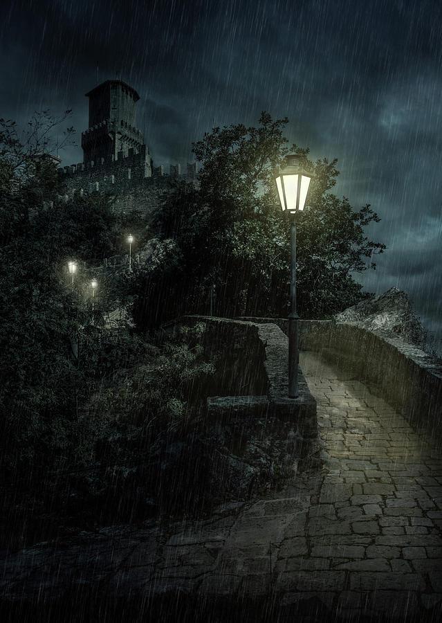San Marino at night by Jaroslaw Blaminsky