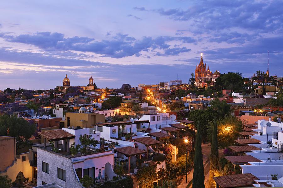 San Miguel De Allende At Dusk Photograph by Jeremy Woodhouse
