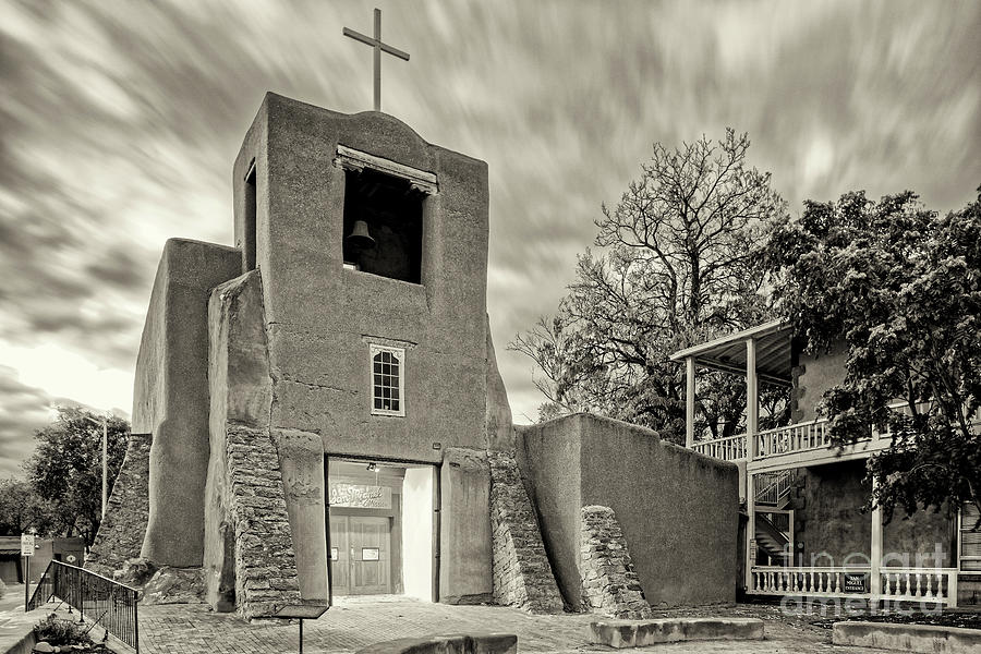 Capilla Photograph - San Miguel Mission and Chapel - Santa Fe The City Different New Mexico Land of Enchantment by Silvio Ligutti
