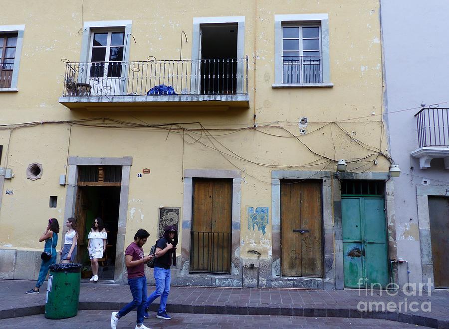 Doors And Windows Photograph - Guanajuato Street Scene by Rosanne Licciardi
