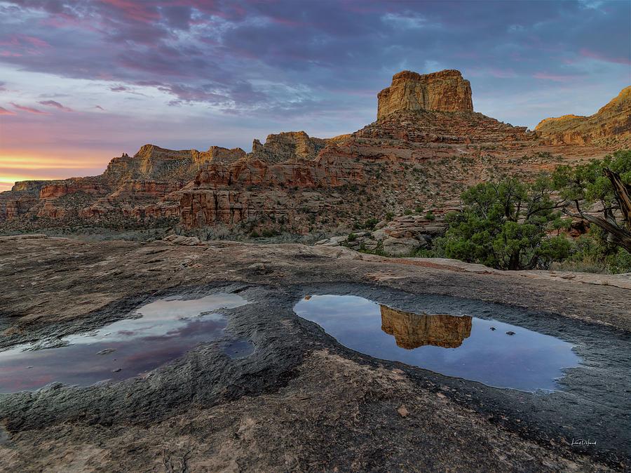 Nature Photograph - San Rafael Canyon Sunrise by Leland D Howard