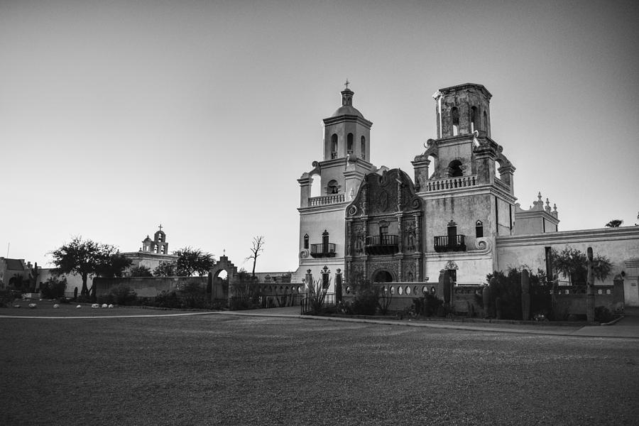 San Xavier Mission Black and White, Tucson Arizona by Chance Kafka