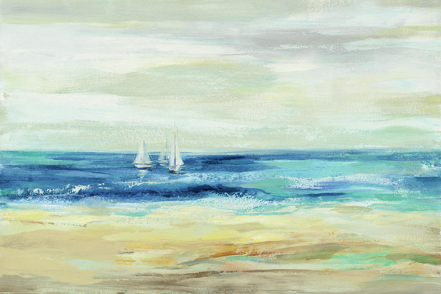 Beaches Painting - Sand And Sea by Silvia Vassileva