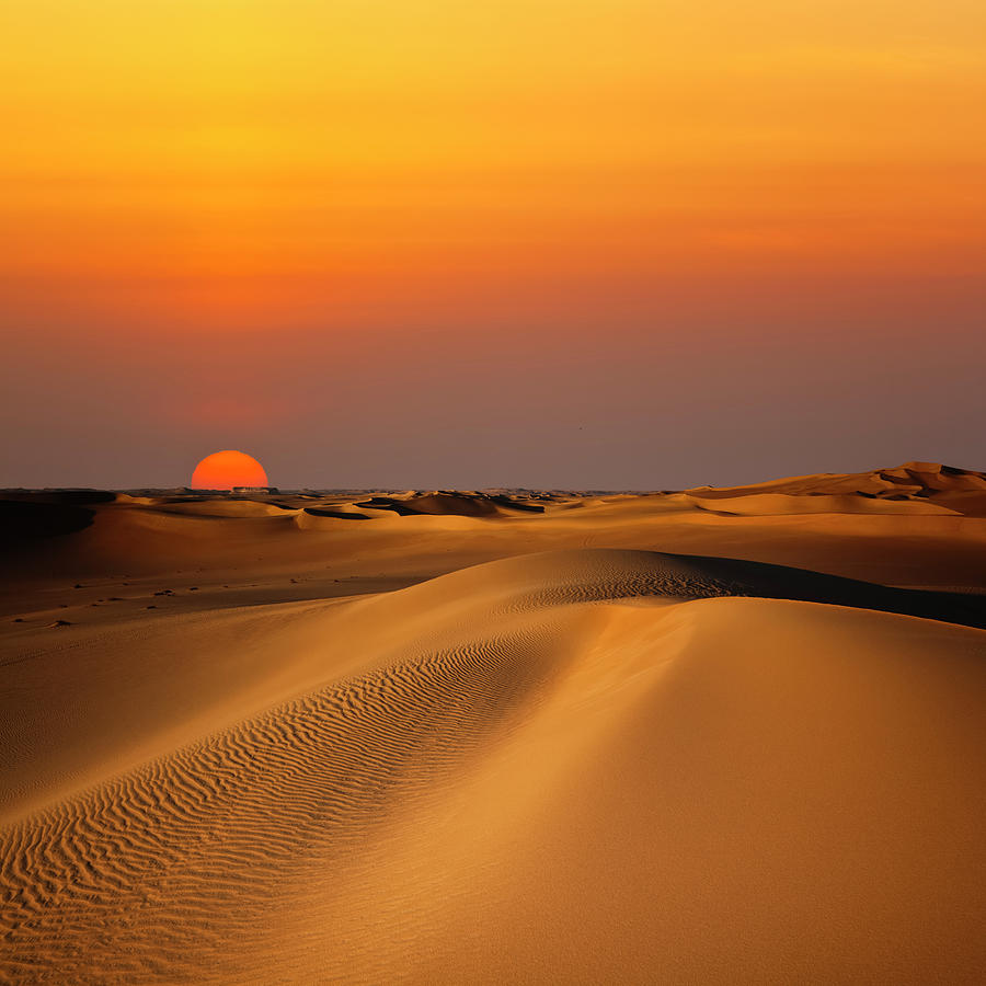 Sand Dune Sunset Photograph by Cinoby
