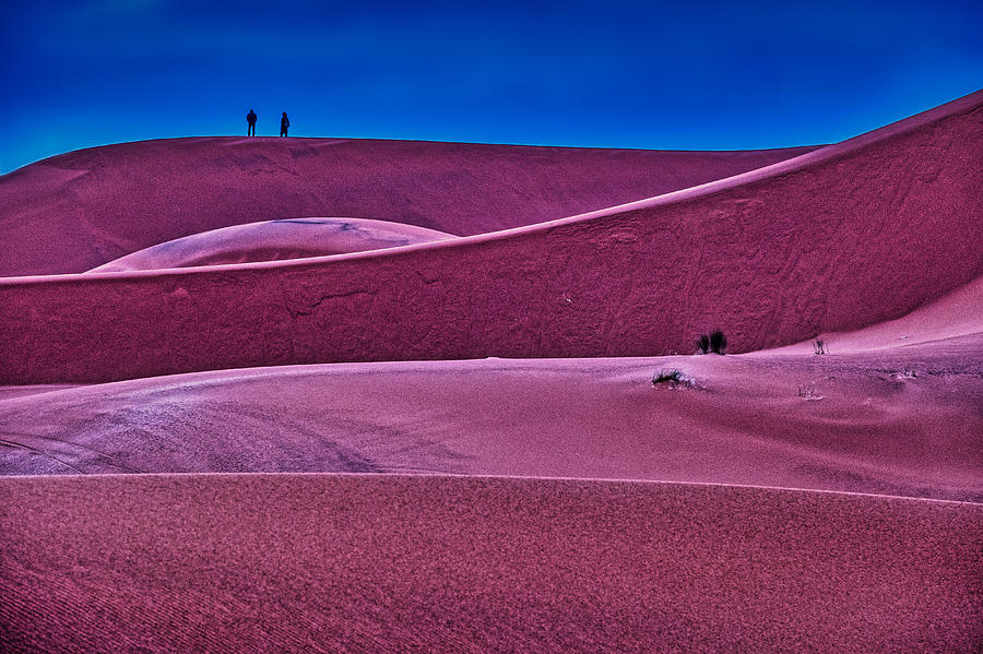 Sand Dunes Blue Hour - Morocco by Stuart Litoff
