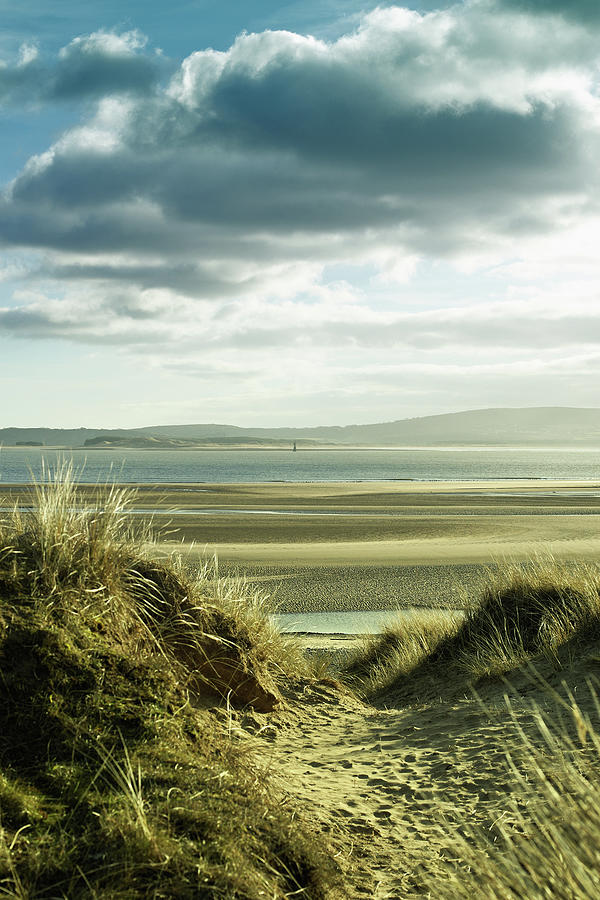 Sand Dunes With Empty Beach And Photograph by Tirc83