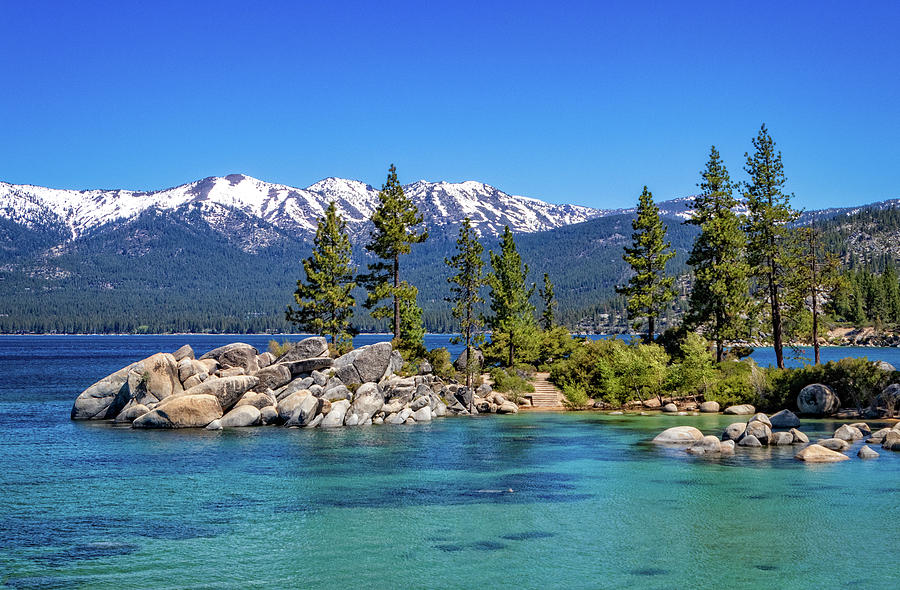 Sand Harbor at Lake Tahoe by Carolyn Derstine