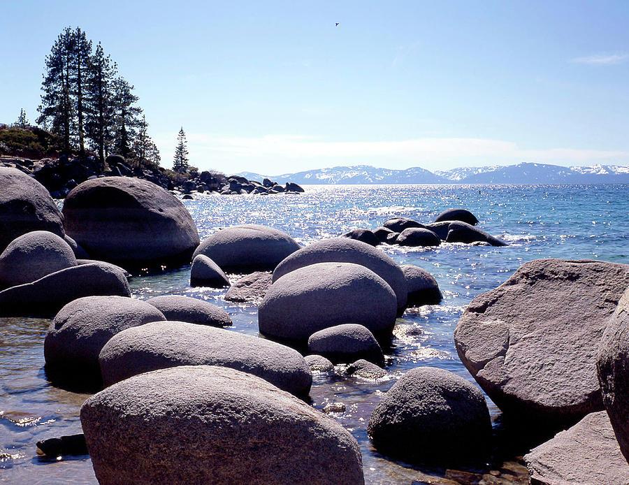 Rocks Photograph - Sand Harbor Beach, Lake Tahoe, Nevada ?88 by Monte Nagler