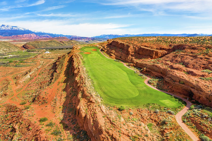 Sand Hollow Golf Course Hole 12 by Mike Centioli