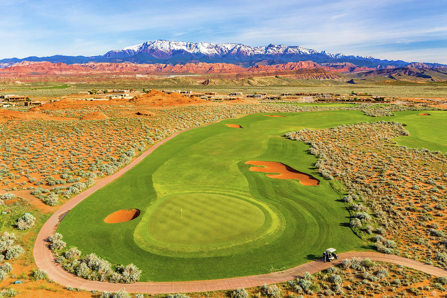 Sand Hollow Golf Course Hole 4 by Mike Centioli