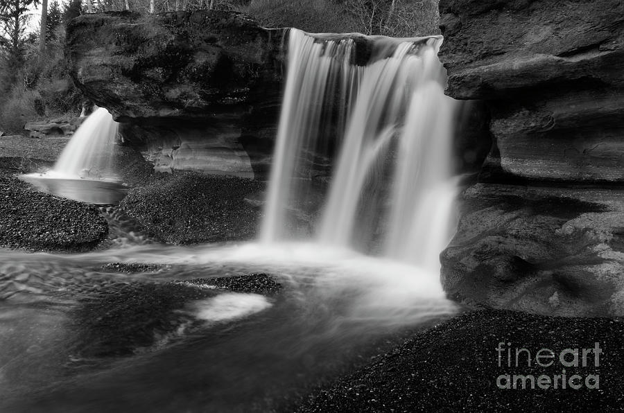 Sandcut Beach Waterfall 2 by Bob Christopher