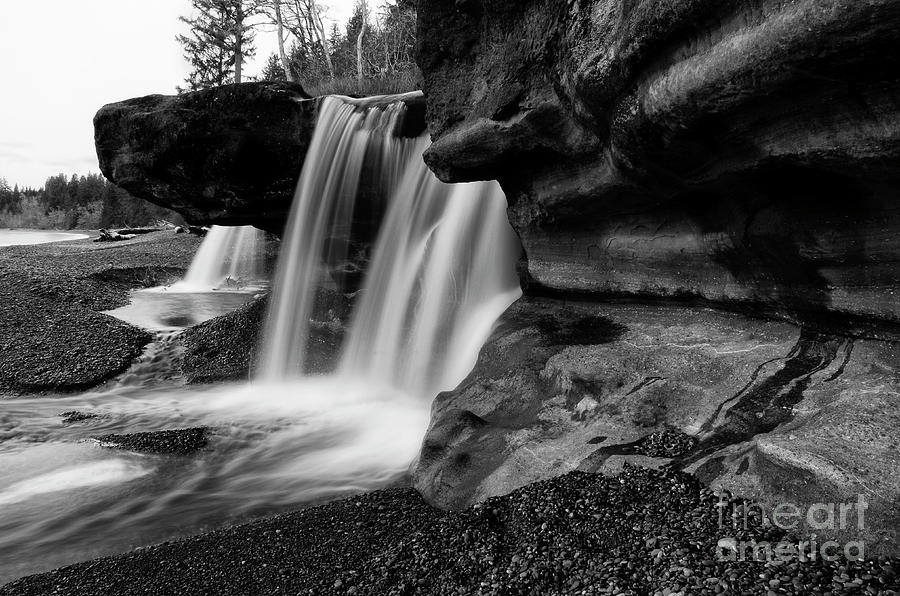 Sandcut Beach Waterfall Vancouver Island by Bob Christopher