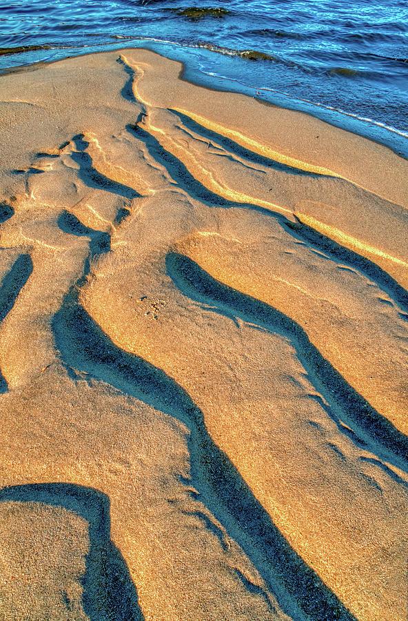Sandforms At Sandy Hook New Jersey by Gary Slawsky