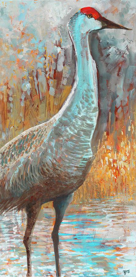 Cranes Painting - Sandhill Cranes IIi by Cecile Broz