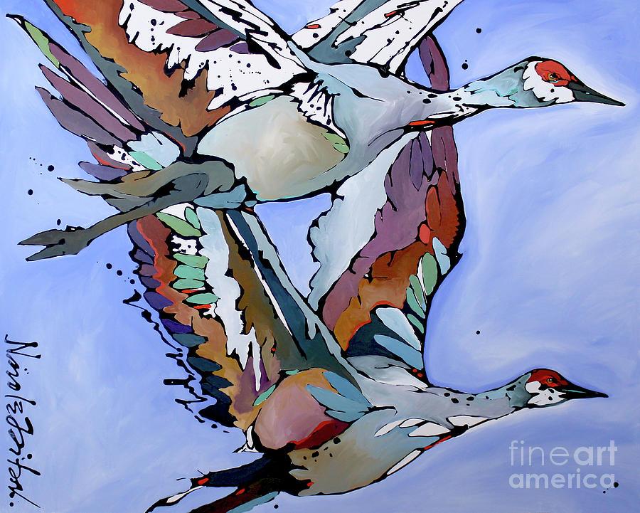 Sandhill Flyers  by Nicole Gaitan