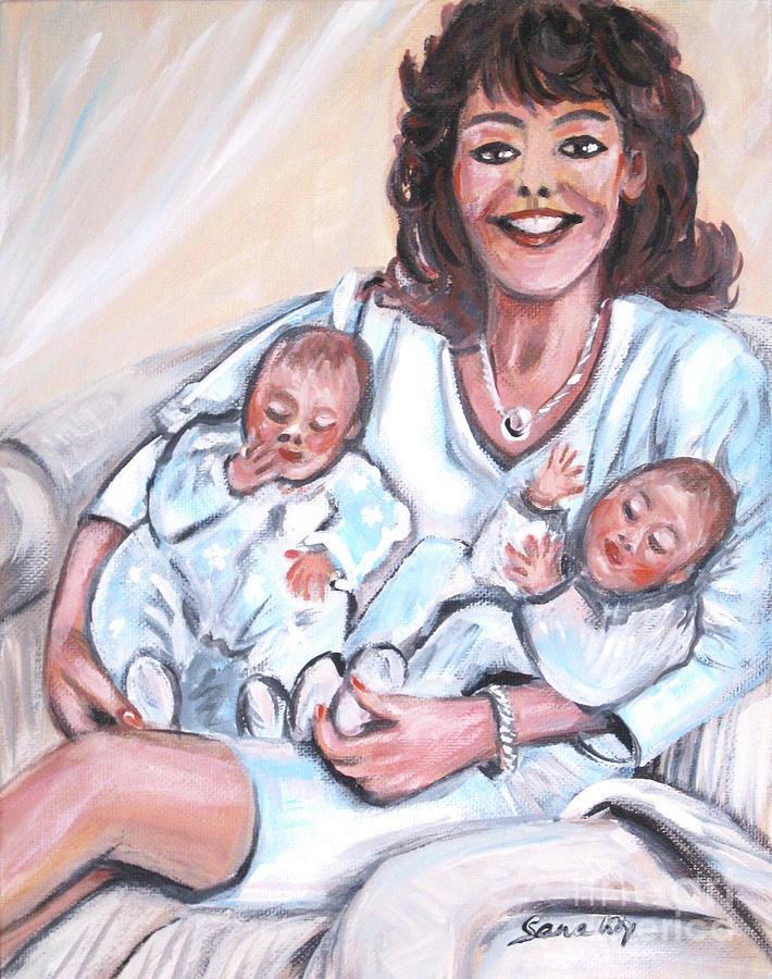 Sandra and  her Babies by Oksana Semenchenko