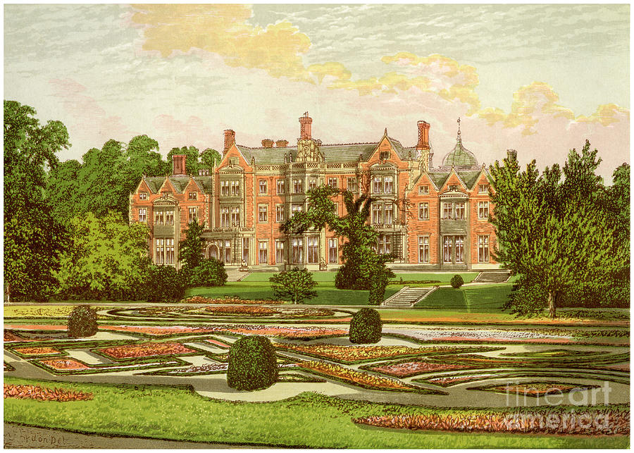 Sandringham, Norfolk, Home Drawing by Print Collector
