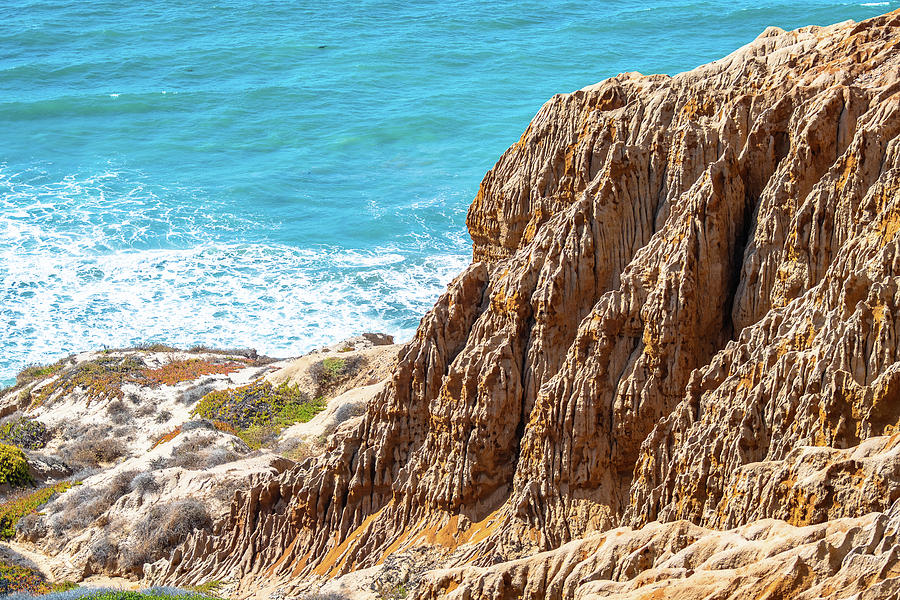Sandstone Cliffs in San Diego by Debbie Ann Powell