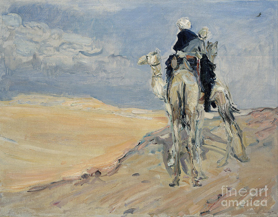 Sandstorm In The Libyan Desert, 1914 Drawing by Heritage Images