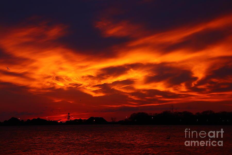 Sandusky Photograph - Fire In The Sandusky Sky by Tony Lee