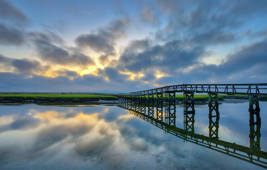 Sandwich Boardwalk Reflection by Juergen Roth