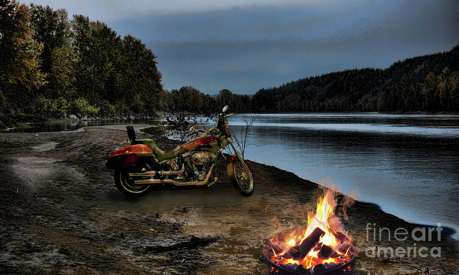 Sandy Biker Fire by Vivian Martin