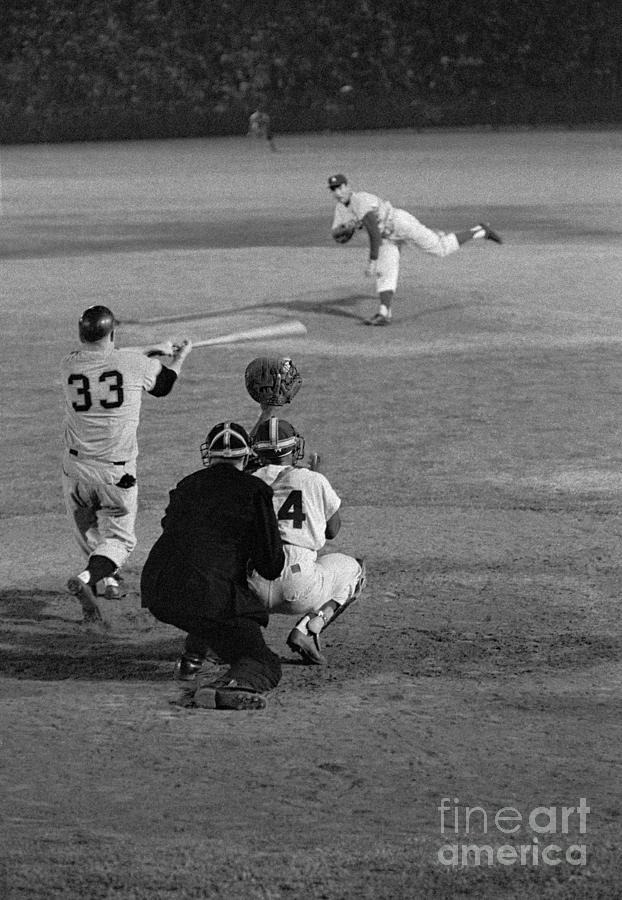 Sandy Koufax Striking Jack Sanford Photograph by Bettmann