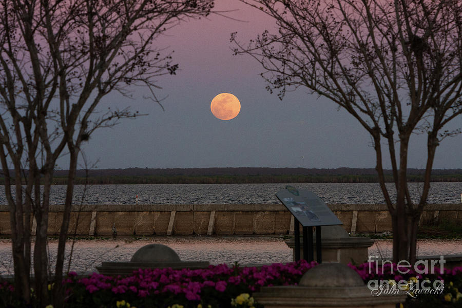 Sanford Riverwalk-moonrise-9395 by John Zawacki