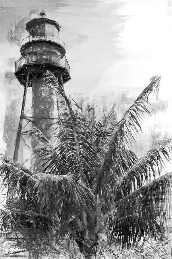 Sanibel Lighthouse En Noir by Alice Gipson
