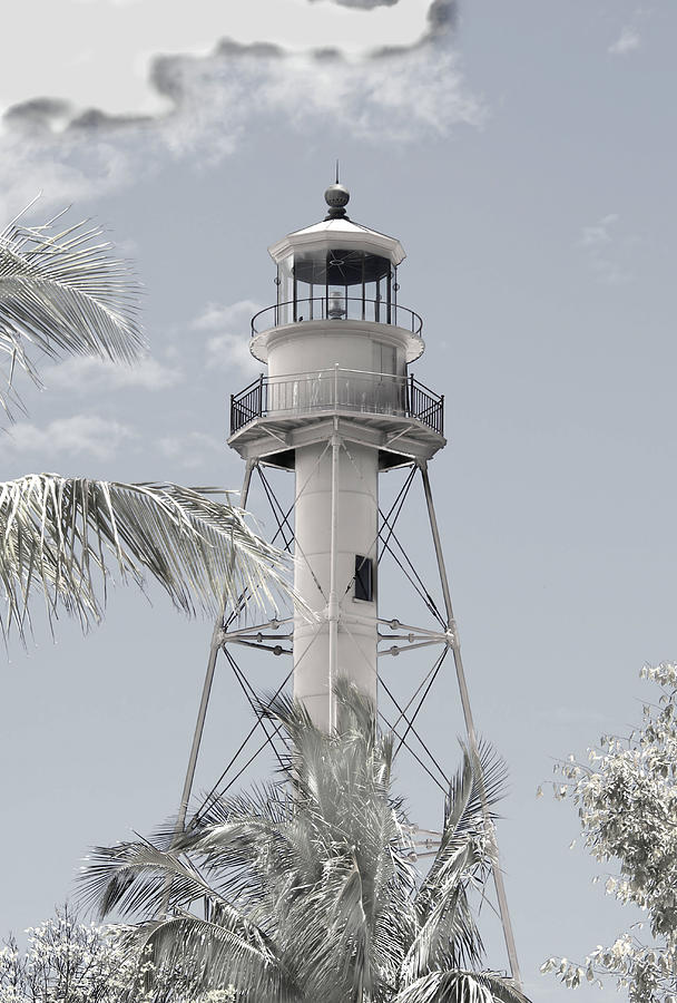 Lighthouse Photograph - Sanibel Lighthouse by Rosalie Scanlon