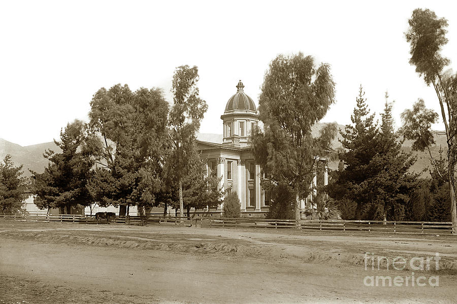 Santa Barbara County Courthouse, Completed 1872 Circa 1899 by California Views Archives Mr Pat Hathaway Archives